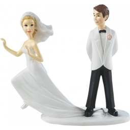 View the *CLEARANCE* RUNAWAY BRIDE wedding cake topper figurine online at Cake Stuff