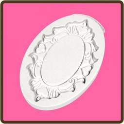 View the Oval Hearts - Decorative Plaque silicone mat sugarcraft mould online at Cake Stuff