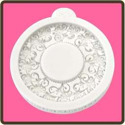View the Vintage Circle - Miniature Frames silicone mat sugarcraft mould online at Cake Stuff