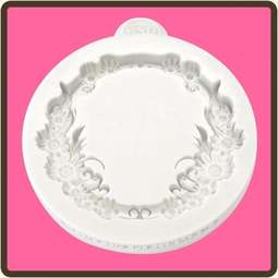 View the Floral Circle - Miniature Frames silicone mat sugarcraft mould online at Cake Stuff