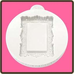View the Vintage Rectangle - Miniature Frames silicone mat sugarcraft mould online at Cake Stuff