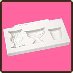 View the Pots & Urns 3 pc silicone sugarcraft mould set online at Cake Stuff