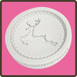 View the Prancing Reindeer - Christmas cupcake silicone sugarcraft mould online at Cake Stuff