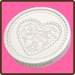 View the Lace Heart cupcake silicone sugarcraft mould online at Cake Stuff