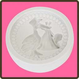 View the Stork - Baby 3 cupcake silicone sugarcraft mould online at Cake Stuff