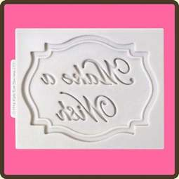 View the Make a Wish - mini plaque silicone sugarcraft mould online at Cake Stuff