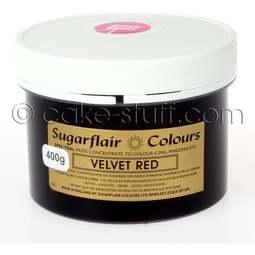View the VELVET RED Spectral icing paste colouring BULK 400g online at Cake Stuff