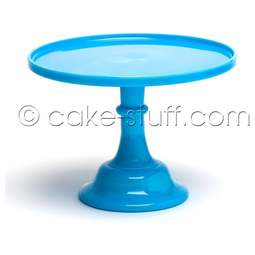 "View the 10"" milk glass cake pedestal stand - Robin's Egg / Bonnie Blue online at Cake Stuff"