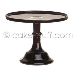 "View the 6"" milk glass cake pedestal stand - Raspberry Black online at Cake Stuff"