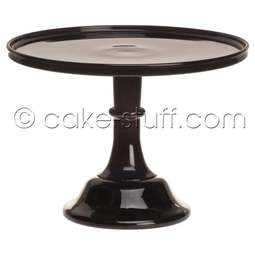 "View the 12"" milk glass cake pedestal stand - Raspberry Black online at Cake Stuff"