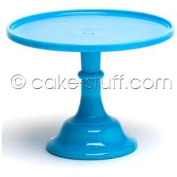 "View the 12"" milk glass cake pedestal stand - Robin's Egg / Bonnie Blue online at Cake Stuff"