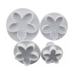View the **PROMO** Lilac Flower 4 pc plunger icing cutter set online at Cake Stuff