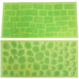 View the Cobblestone & Stone Wall impression mat set 2 online at Cake Stuff