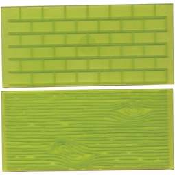 View the Tree Bark & Brick Wall impression mat set 1 online at Cake Stuff