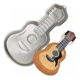 View the Guitar bass violin novelty cake tin pan online at Cake Stuff