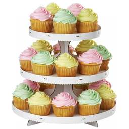 View the 3 tier cardboard cupcake stand - holds 24 cup cakes online at Cake Stuff