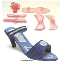 View the Ladies' Shoe 9 pc icing cutter set (large) online at Cake Stuff