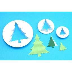 View the Christmas Fir Tree 3 pc fondant icing cutter set online at Cake Stuff