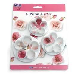 View the 3 piece XL 5-petal blossom icing cutter set online at Cake Stuff