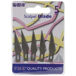 View the pk 5 REPLACEMENT SCALPEL BLADES for Knife & Ribbon Insertion tool online at Cake Stuff