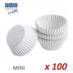 View the WHITE mini cupcake baking cases - pk 100 online at Cake Stuff