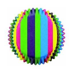 View the RAINBOW STRIPES cupcake baking cases - pk 60 online at Cake Stuff