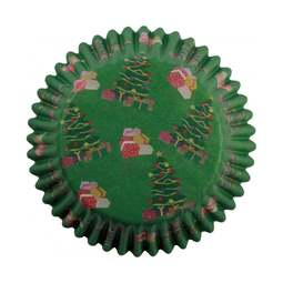 View the CHRISTMAS PARCELS cupcake baking cases - pk 60 online at Cake Stuff