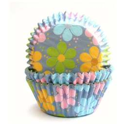 View the FLOWER POWER cupcake baking cases - pk 60 online at Cake Stuff