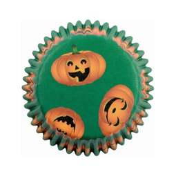 View the PUMPKIN PALS Hallowe'en cupcake baking cases - pk 60 online at Cake Stuff