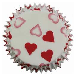 View the PETITE HEARTS cupcake baking cases - pk 60 online at Cake Stuff