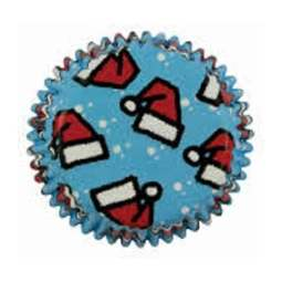 View the SANTA HATS mini cupcake baking cases - pk 100 online at Cake Stuff