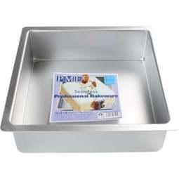 "View the 10"" / 25.5cm professional square aluminium cake tin pan online at Cake Stuff"