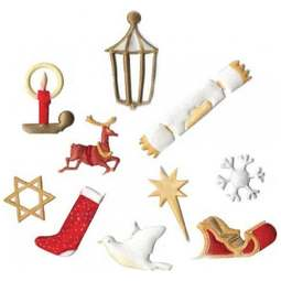View the Christmas Tappit icing cutter set - 11 designs online at Cake Stuff