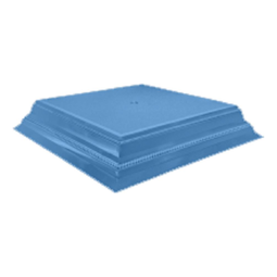 "View the BLUE SQUARE 14"" wedding cake stand base plinth online at Cake Stuff"