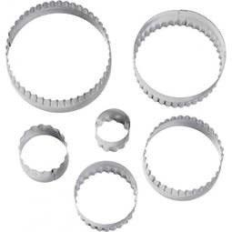 View the 6 pc round double cut outs icing cutter set online at Cake Stuff