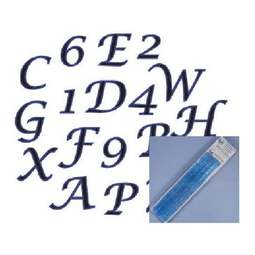 View the Script Alphabet & Number upper case Tappit icing cutter set online at Cake Stuff