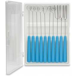 View the **CLEARANCE** 10 piece chocolate dipping tool box set online at Cake Stuff