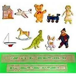 View the Toys Tappit fondant  icing cutter set - 10 designs online at Cake Stuff