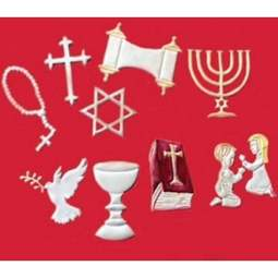 View the Faith / Religious Symbols Tappit icing cutter set - 10 designs online at Cake Stuff