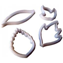 View the Creative Leaf 4 piece icing cutter set online at Cake Stuff