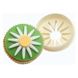 View the Daisy & Circle double-sided cupcake icing cutter online at Cake Stuff