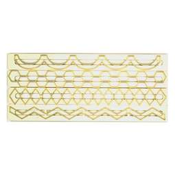 View the Straight Frill Geometric Edging 4 pc icing cutter set #5 (frills 17 - 20) online at Cake Stuff