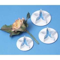 View the 3 piece flower calyx icing cutter set online at Cake Stuff