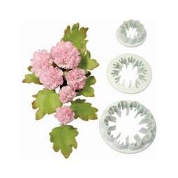View the Carnation 3 pc fondant icing flower cutter set online at Cake Stuff