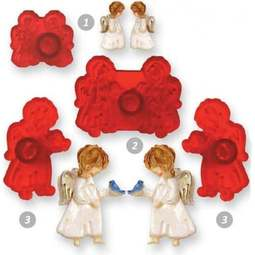 View the Cute Angels 4 pc fondant icing cutter set online at Cake Stuff