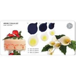 View the Arum / Cala Lily flower blossom 3 piece icing cutter set online at Cake Stuff