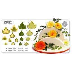 View the 4 pc Large Ivy Leaves fondant icing gumpaste cutter set online at Cake Stuff