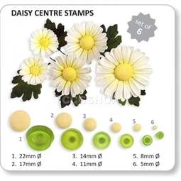 View the Daisy sugar flower centre stamps 6 pc set online at Cake Stuff