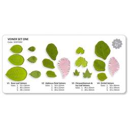 View the #1 Leaf & Flower Veiners 11 pc set V1-V4 - ONE online at Cake Stuff