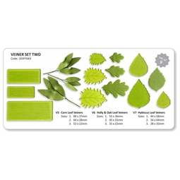 View the #2 Leaf & Flower Veiners 9 pc set V5-V7 - TWO online at Cake Stuff